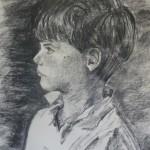 Enfant 4 fusain